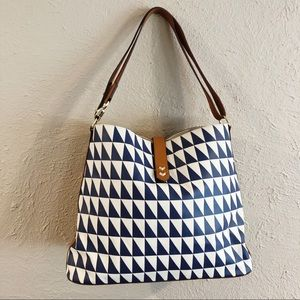 Stella & Dot New Geo Tile Hobo Purse